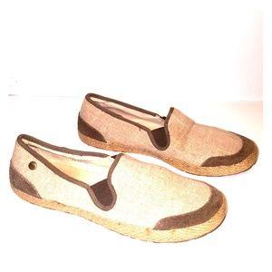 Ugg Australia womens linen flat shoes